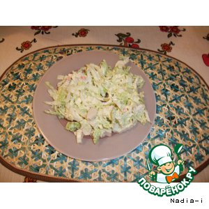Рецепт Китайская капуста с крабовыми палочками