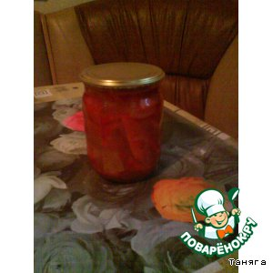 Рецепт: Лечо с томатным соком