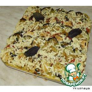 Рецепт Запеканка из поленты с овощами