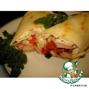 Рецепт Мексиканские бурритос на завтрак (burritos de desayuno)