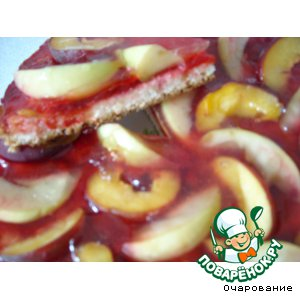 Рецепт Торт персиковый со сливовым джемом