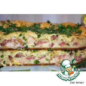 Рецепт Пирог закусочный на завтрак
