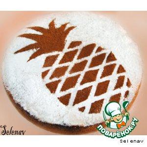 Рецепт Ананасовый пирог со сливочной глазурью