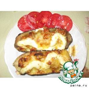 Рецепт Баклажаны, фаршированные мясом и помидорами
