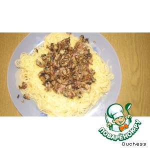 Рецепт Капеллини со сметанно-грибным соусом