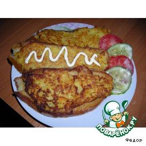 Рецепт Бутерброд с картошкой