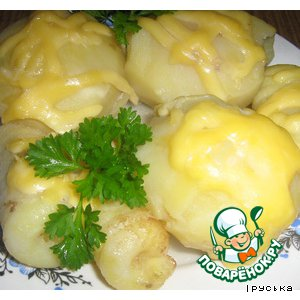 Картофель фаршированный простой рецепт с фотографиями пошагово