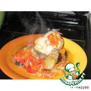 Рецепт Куриная голень с овощами