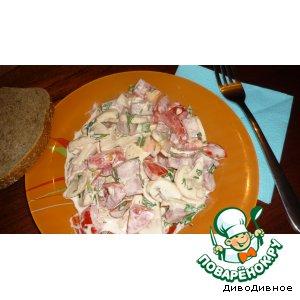 Салатик со  свежими шампиньонами пошаговый рецепт приготовления с фотографиями как приготовить