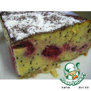 Рецепт Маковый пудинг со свежими фруктами
