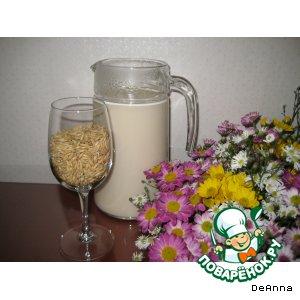 Как приготовить рецепт с фото Овсяное молочко