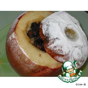 Рецепт Печеные яблоки с черносливом, медом и орехами