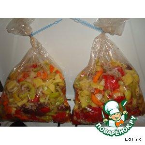 Рецепт Овощное рагу в рукаве