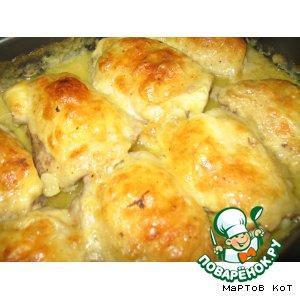Курочка в сырном соусе рецепт с фотографиями готовим