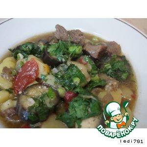 Рецепт Баклажаны, тушенные с мясом