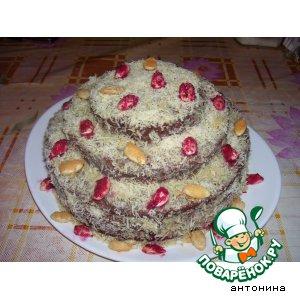 """Рецепт Трехъярусный торт """"Осенний марафон"""""""
