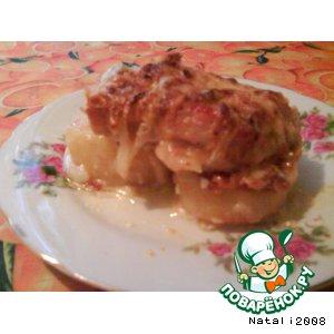 Как готовить домашний рецепт приготовления с фотографиями Мясо под сыром с картошкой (типа по-французски )