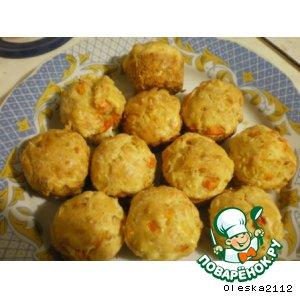 Рецепт Маффины с крабовыми палочками (сурими)