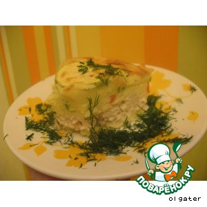 Рецепт Картофельная запеканка с сюрпризом