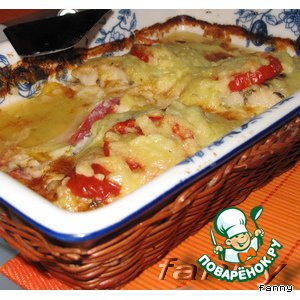 Рецепт Рыба с помидорами и сыром
