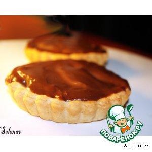 Рецепт Десертные тарталетки с грушами и шоколадной глазурью