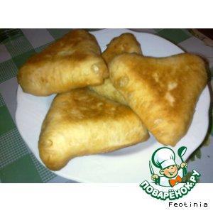 "Рецепт Пирожки ""Аля самса"" с начинкой из лука"