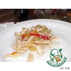 Рецепт Курица в кисло-сладком соусе с ананасом