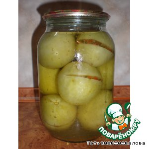 Рецепт Фаршированные зеленые помидоры