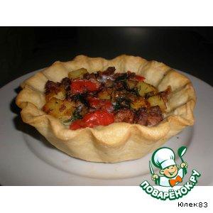 Тарталетки с мясной запеканкой простой рецепт приготовления с фото пошагово как готовить