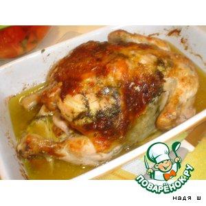 Рецепт Курочка в рукаве с зеленью