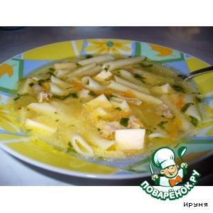 Рецепт Куриный суп с сыром
