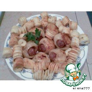 """Рецепт """"Крошечка - картошечка"""" (фаршированный картофель+картофель-фри)"""