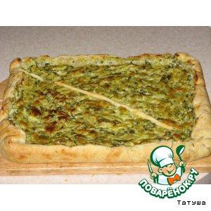 Рецепт Пирог со шпинатом и щавелем