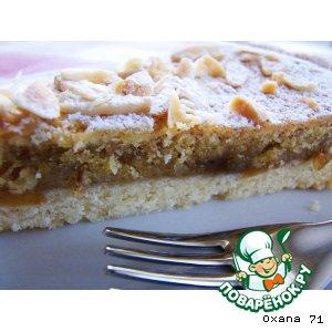 Рецепт Итальянский торт-кростатa с вареньем из крыжовника. Crostata con marmellata di uva spina e crema frangipane