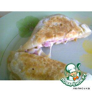 Рецепт Пирожки слоеные с ветчиной и сыром