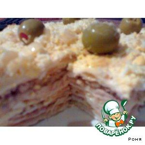 Рецепт Рыбный слоенный пирог