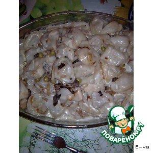 Рецепт Пельмени,   запеченные с грибами  в  любимом соусе  «Изысканные»