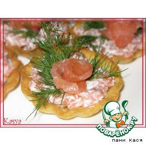 """Рецепт Тарталетки  """"Морские"""" на картофельном тесте"""