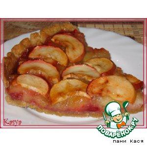 Яблочно-малиновый тарт со сливочным кремом простой пошаговый рецепт с фотографиями как готовить