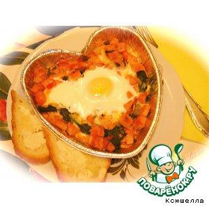Рецепт Запеченные яйца со шпинатом