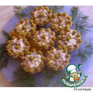 Рецепт Тарталетки с салатом из куриной печени