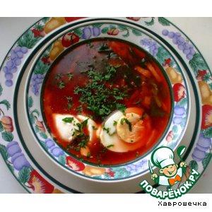 Рецепт Вегетарианский суп со шпинатом и свеклой
