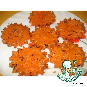 Рецепт Запеченные тыквенные цветочки