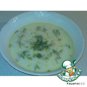 """Рецепт Нежный """"сырно-грибной"""" суп"""