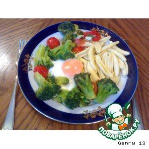 Рецепт Макароны (Паста) с овощами и яйцом