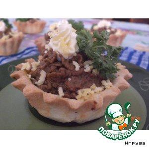 Рецепт Тарталетки с печеночным паштетом