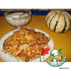 Рецепт Тыквенно-картофельные оладушки