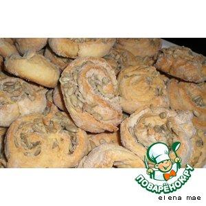 Рецепт Печенье-рулетики с семечками
