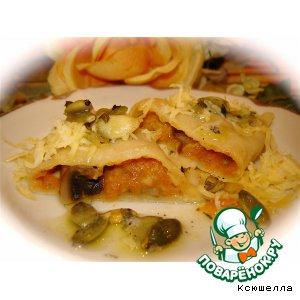 Рецепт Равиоли с тыквой и грибами