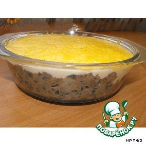 Рецепт Жюльен из баклажанов с грибами